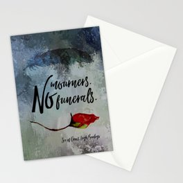No mourners. No funerals. Six of Crows Stationery Cards