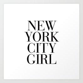 New York City Girl Art Print