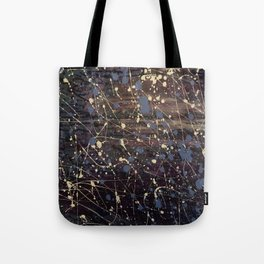 Splatter Painting Abstract, Blue, Purple, Pollack, Jodilynpaintings, Splatter Tote Bag