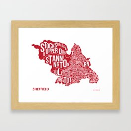 The Wards of Sheffield Framed Art Print