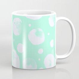 Snowballs-Light turquoise backgroud Coffee Mug