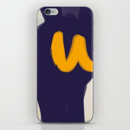 blue yellow white minimal abstract art iPhone Skin
