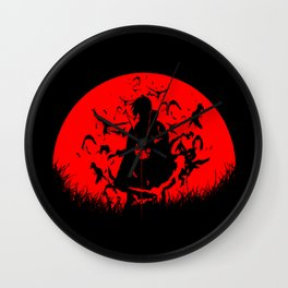 Red Moon Itachi Wall Clock