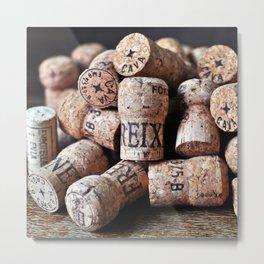 Cork of Champagne Metal Print