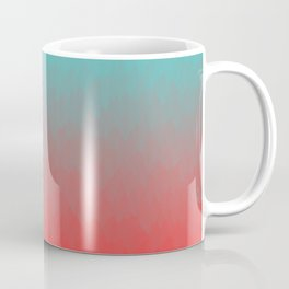 Cyan to red ombre flames Miami Sunset Coffee Mug