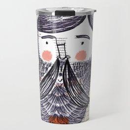 Bearded Lumberjack Man Travel Mug