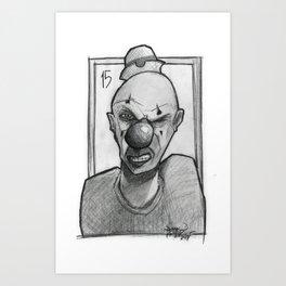 Clown number 15 Art Print