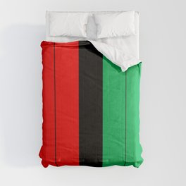 Kwanzaa Red Black Green Stripes Comforters