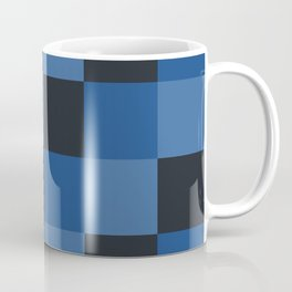 Classic Checker Pattern Black Blue - Marabbecca Coffee Mug