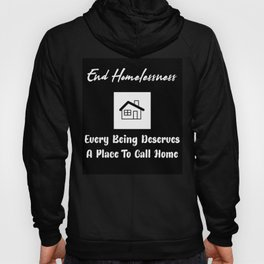 End Homelessness Text Design Hoody