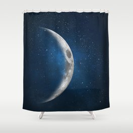 The moon is friend for the lonesome to talk to. Shower Curtain