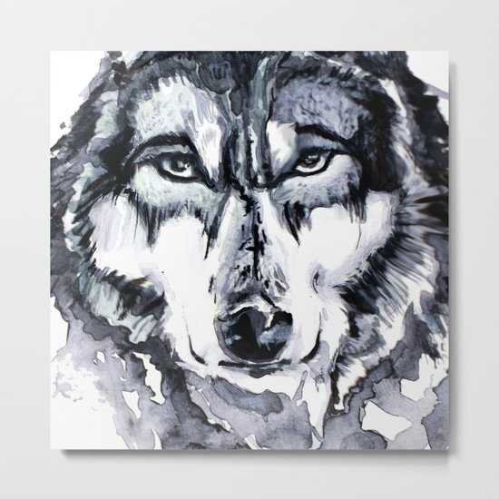 Abstract Wolf - Zoomed Metal Print