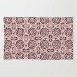 Rose Quartz Doily Floral Rug