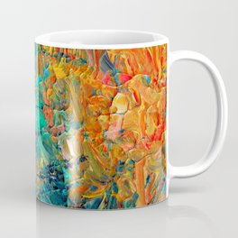 ETERNAL TIDE 2 Rainbow Ombre Ocean Waves Abstract Acrylic Painting Summer Colorful Beach Blue Orange Coffee Mug