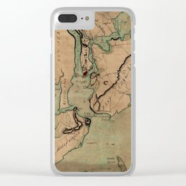 Map Of New York 1780 Clear iPhone Case
