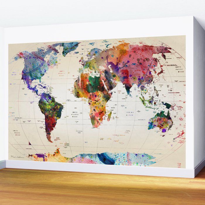 map Wall Mural
