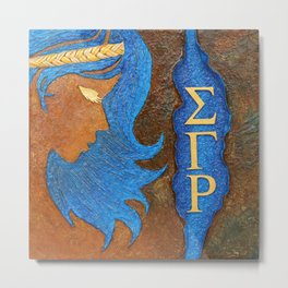 Sigma Gamma Rho Sister in Profile Metal Print