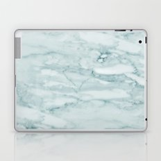 Marble Pale Teal Sea Green Marble Laptop & iPad Skin