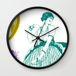 Vintage Fashionable Art Deco Woman with Jewelry Wall Clock