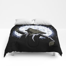 Howling at the Disco Moon Comforters