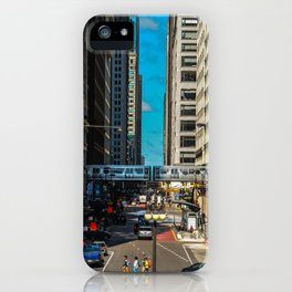 Cartoony Downtown Chicago iPhone Case