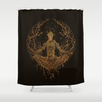 groot Shower Curtains featuring Groot Mandala by Megmcmuffins