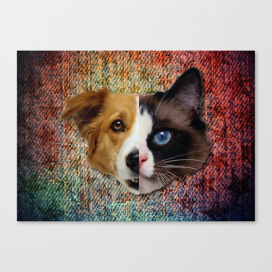 CatDog Canvas Print