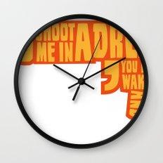 Shoot me in a dream Wall Clock