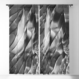 Abstract 808 Black and White Blackout Curtain