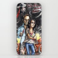 abigail larson iPhone & iPod Skins featuring Gareth and Abigail by Furiarossa