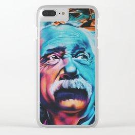 Einstein graffiti Clear iPhone Case