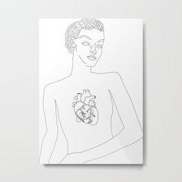 Feminine Heart Metal Print
