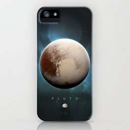 A Portrait of the Solar System: Pluto iPhone Case