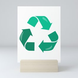 Recycling Symbol Earth Day design Mini Art Print