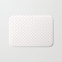 Dots (Pink/White) Bath Mat