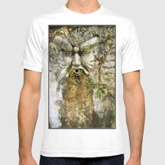 He Who Drools MEDIUM Mens Fitted Tee White