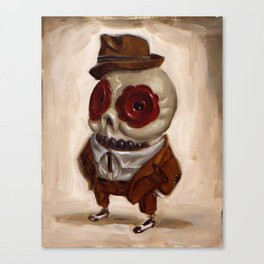 Sharp Calavera Canvas Print