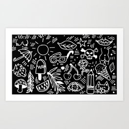 Black & White Minimal Pattern Art Print