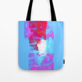 abstract blue pink Tote Bag