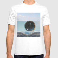 Last Night We Went To Space But I Knew It Was A Dream Even Before I Woke Up MEDIUM White Mens Fitted Tee