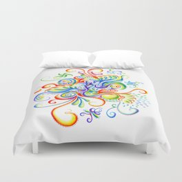 Abstract Coloured Pencil Art Duvet Cover