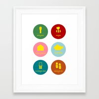 wes anderson Framed Art Prints featuring Wes Anderson by Chay Lazaro