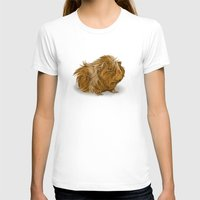 guinea pig T-shirts featuring grumpy old guinea pig  by Devon Busby Busbyart