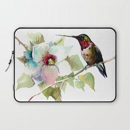 Hummingbird and White Magnolia Laptop Sleeve