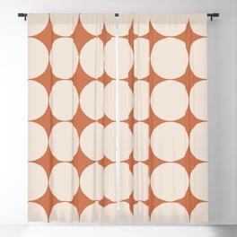 Circular Minimalism - Orange Blackout Curtain