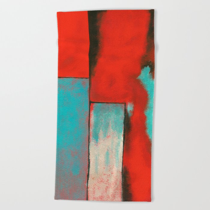 The Corners of My Mind, Abstract Painting Beach Towel