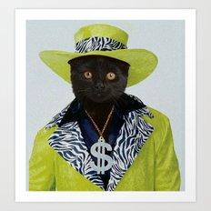 Pimp Cat Art Print