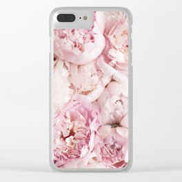 Peonies- Print I Clear iPhone Case