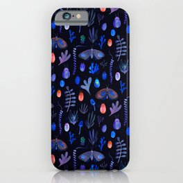 Jungle Moths - Night iPhone Case