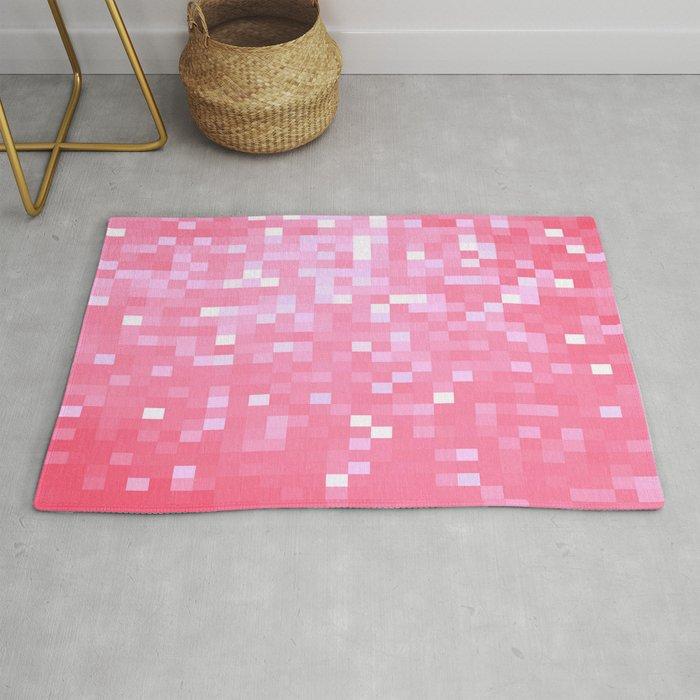 Bubblegum Pink Pixel Sparkle Rug